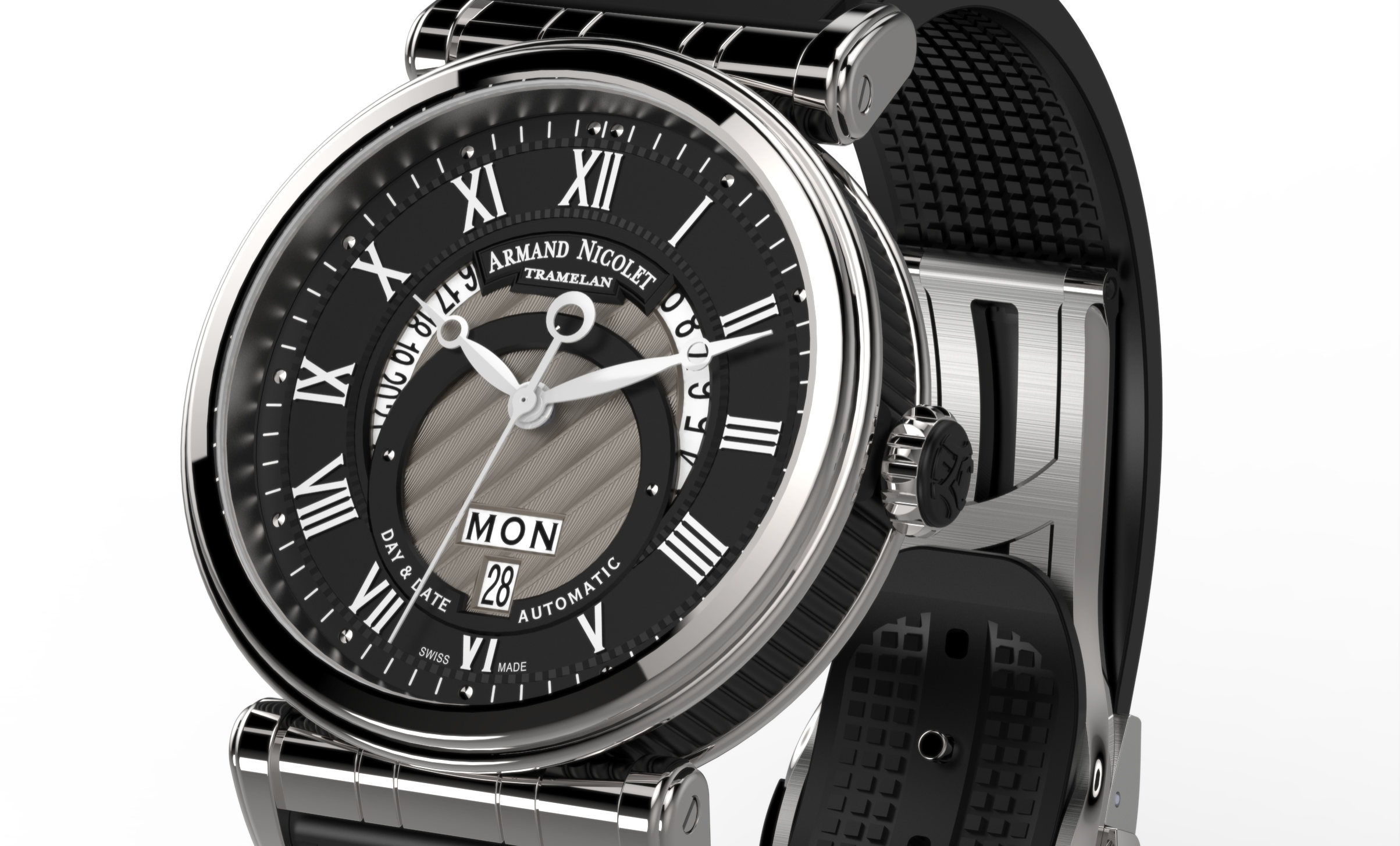 Armand Nicolet Arc Royal Day Date A420ANA-NR-G9660
