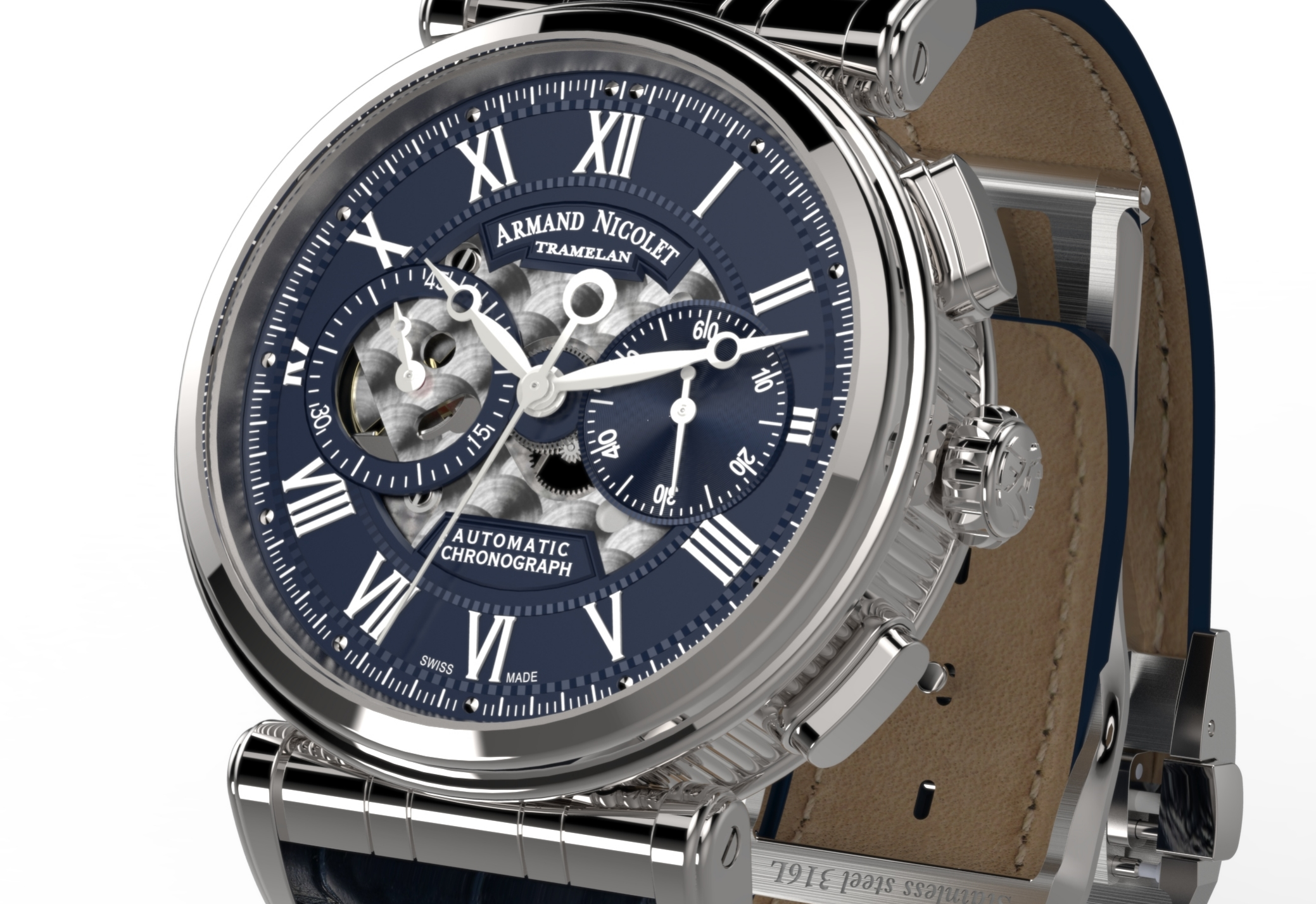 Armand Nicolet Arc Royal Chronograph A424AAA-BU-P974BU2
