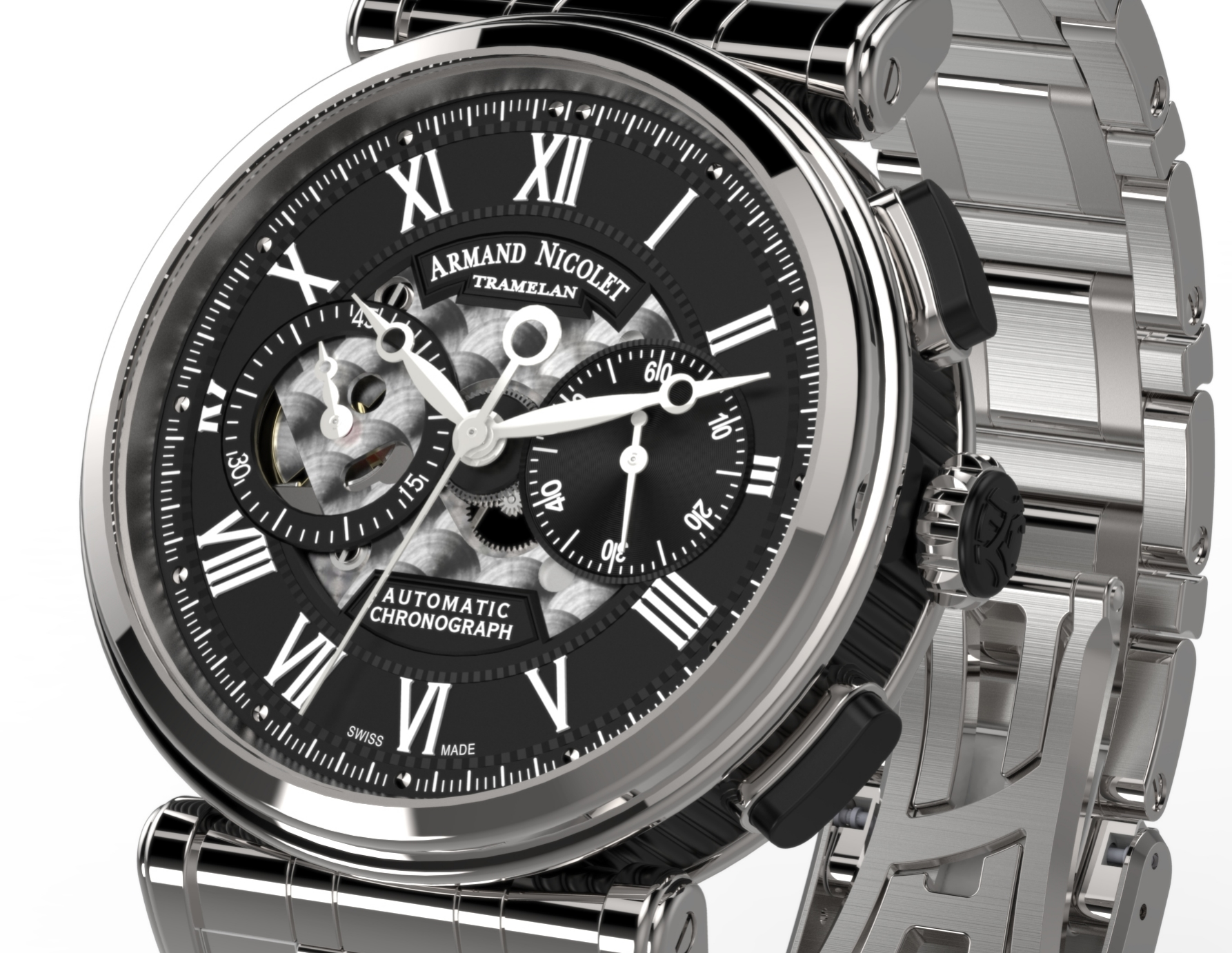 Armand Nicolet Arc Royal Chronograph A424ANA-NR-MA2420