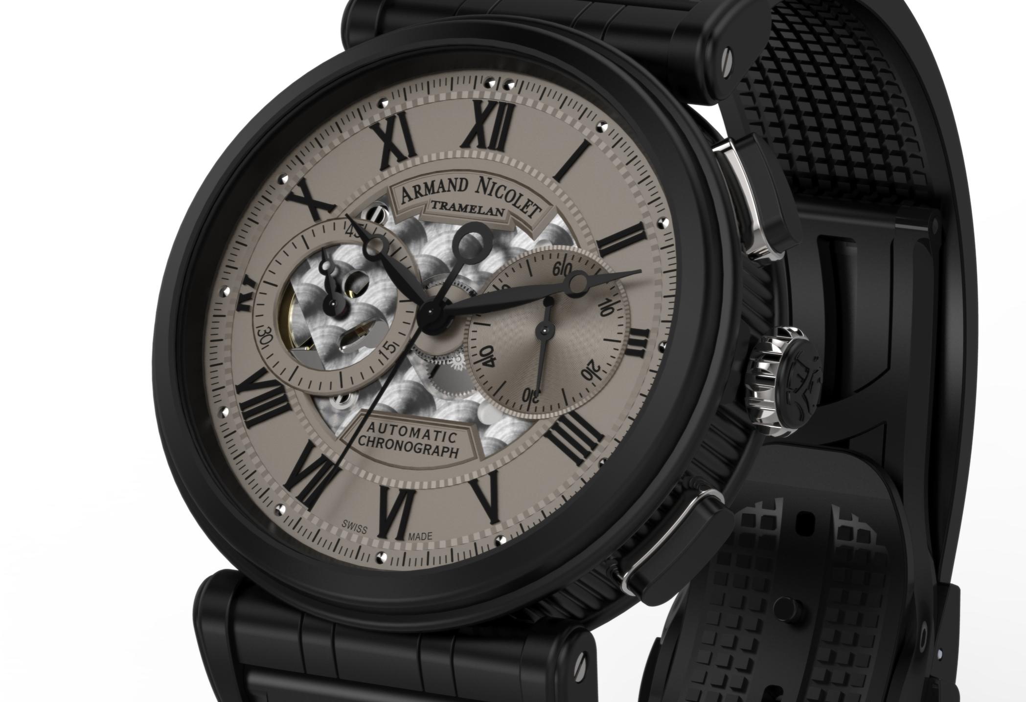 Armand Nicolet Arc Royal Chronograph A424AQN-GR-G9660