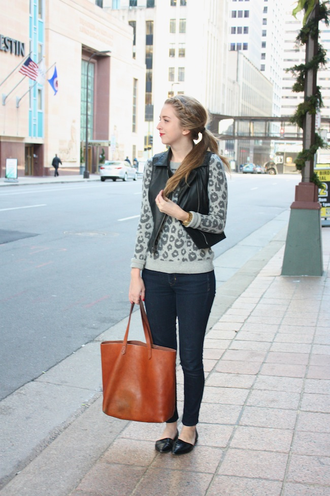 chelsea+lane+zipped+truelane+blog+minneapolis+fashion+style+blogger+gap+leopard+sweater+bb+dakota+virgo+vegan+leather+vest+gap+denim+leggings+vince+camutp+easy+does+it+dorsay+pointy+flats+madewell+transport+tote2.jpg