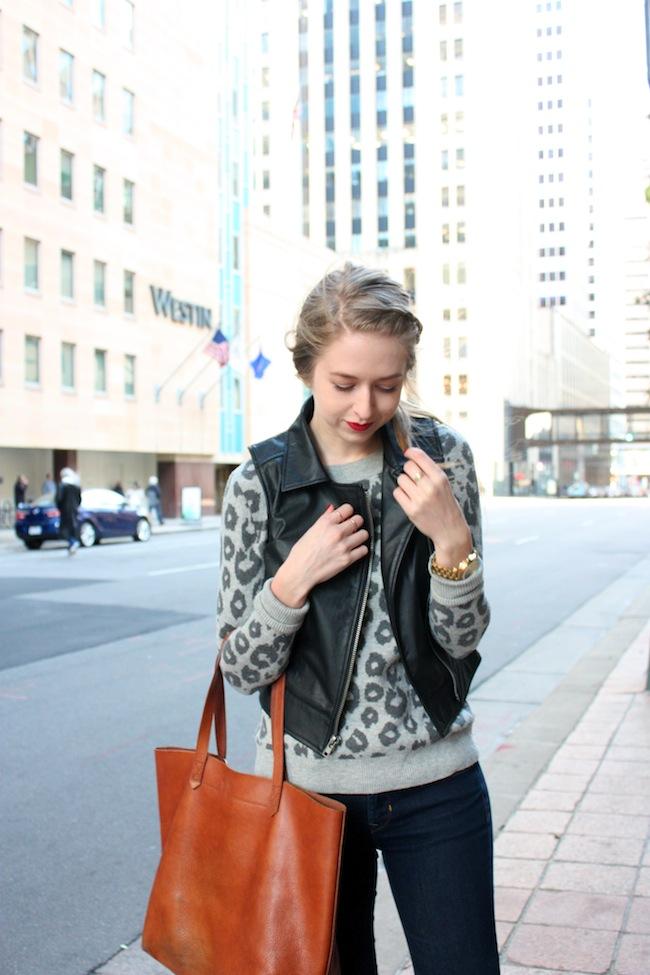 chelsea+lane+zipped+truelane+blog+minneapolis+fashion+style+blogger+gap+leopard+sweater+bb+dakota+virgo+vegan+leather+vest+gap+denim+leggings+vince+camutp+easy+does+it+dorsay+pointy+flats+madewell+transport+tote1.jpg