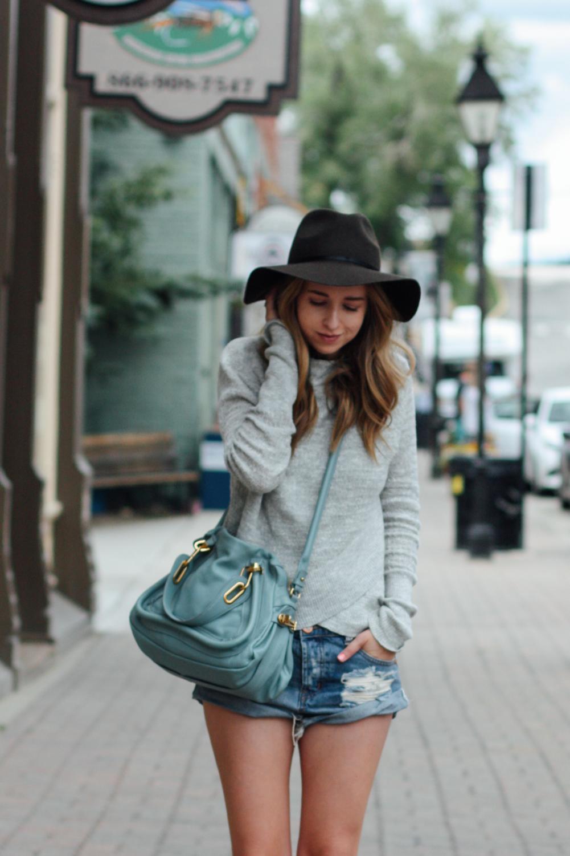 Free People sweater, Chloe bag, One Teaspoon shorts in Leadville, CO via truelane.png