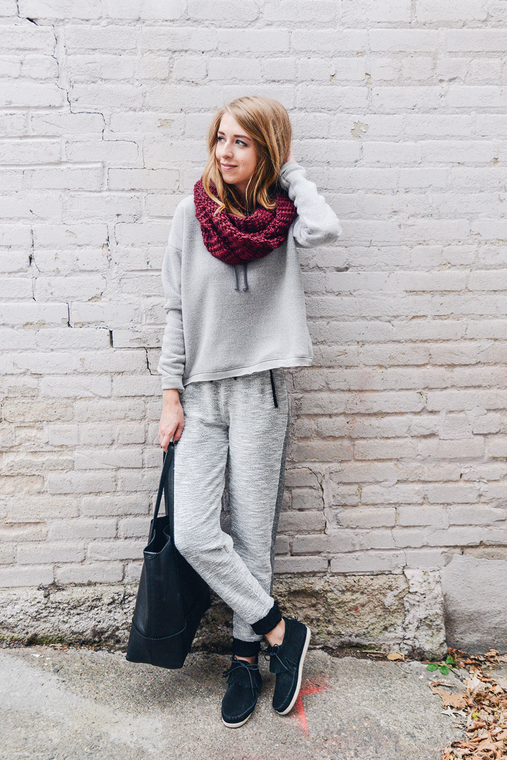 truelane in grey athleisure, Minnetonka Moccasin and Cliche.png