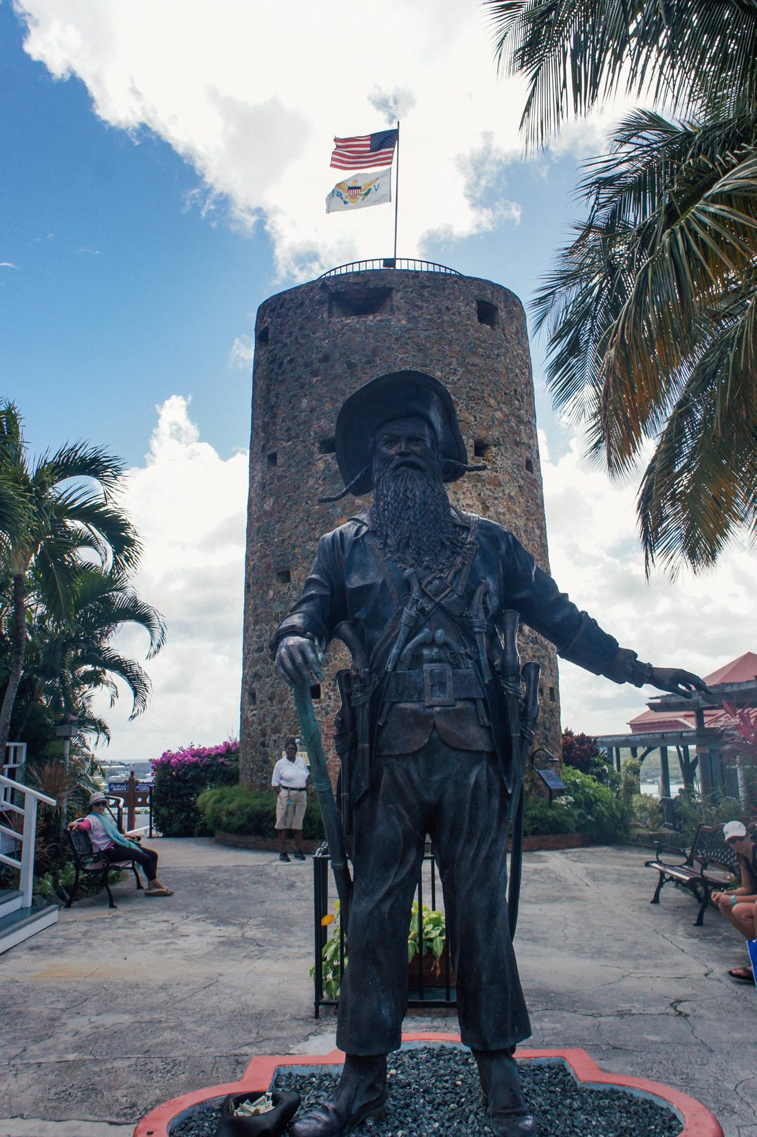 Blackbeard Statue at St. Thomas | truelane