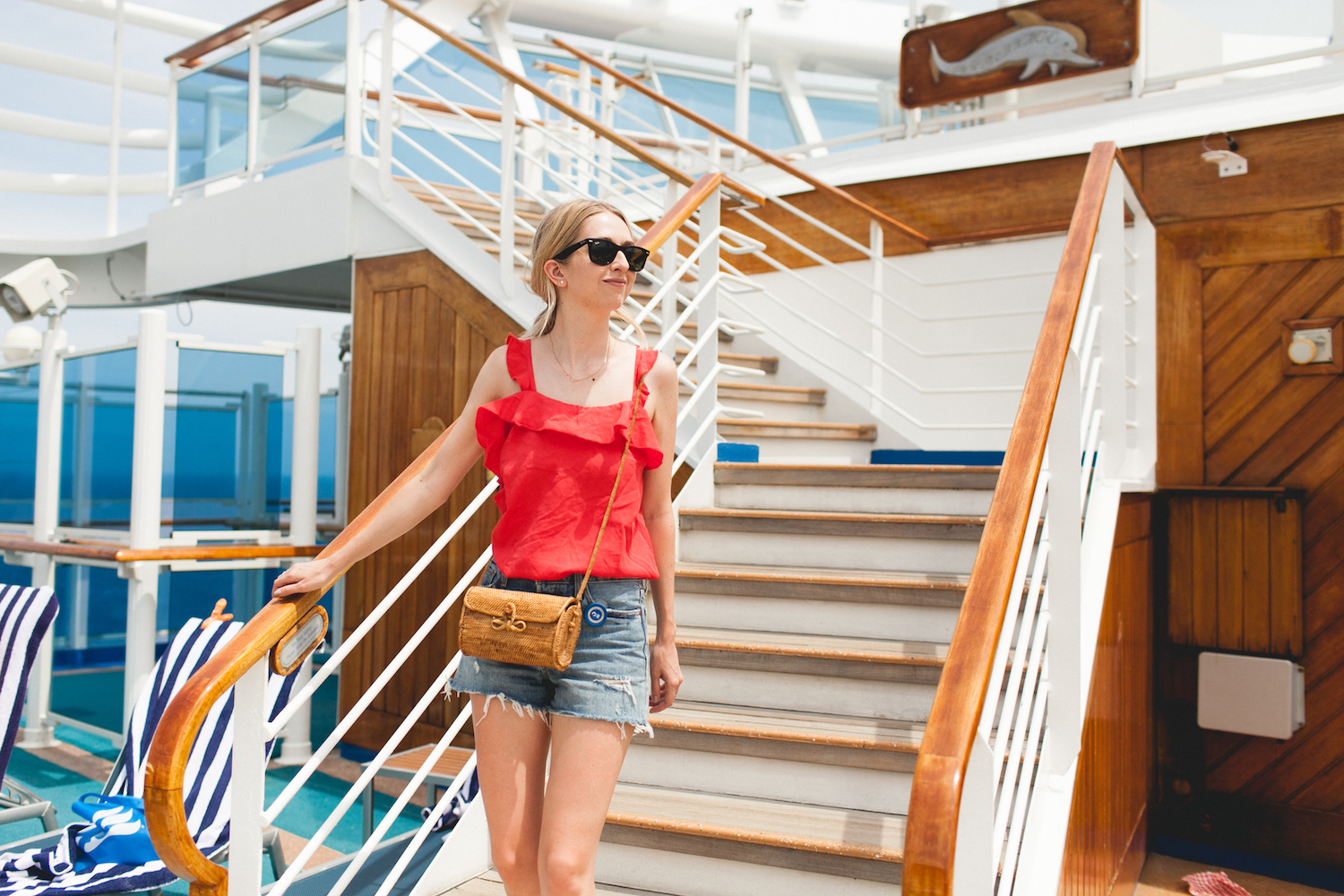Princess Cruises, OceanMedallion, Caribbean cruise, travel, travel blog, style blogger, summer vacation, travel tips, cruising, Caribbean Princess, dream trip, cruise outfit, outfit inspiration, denim shorts