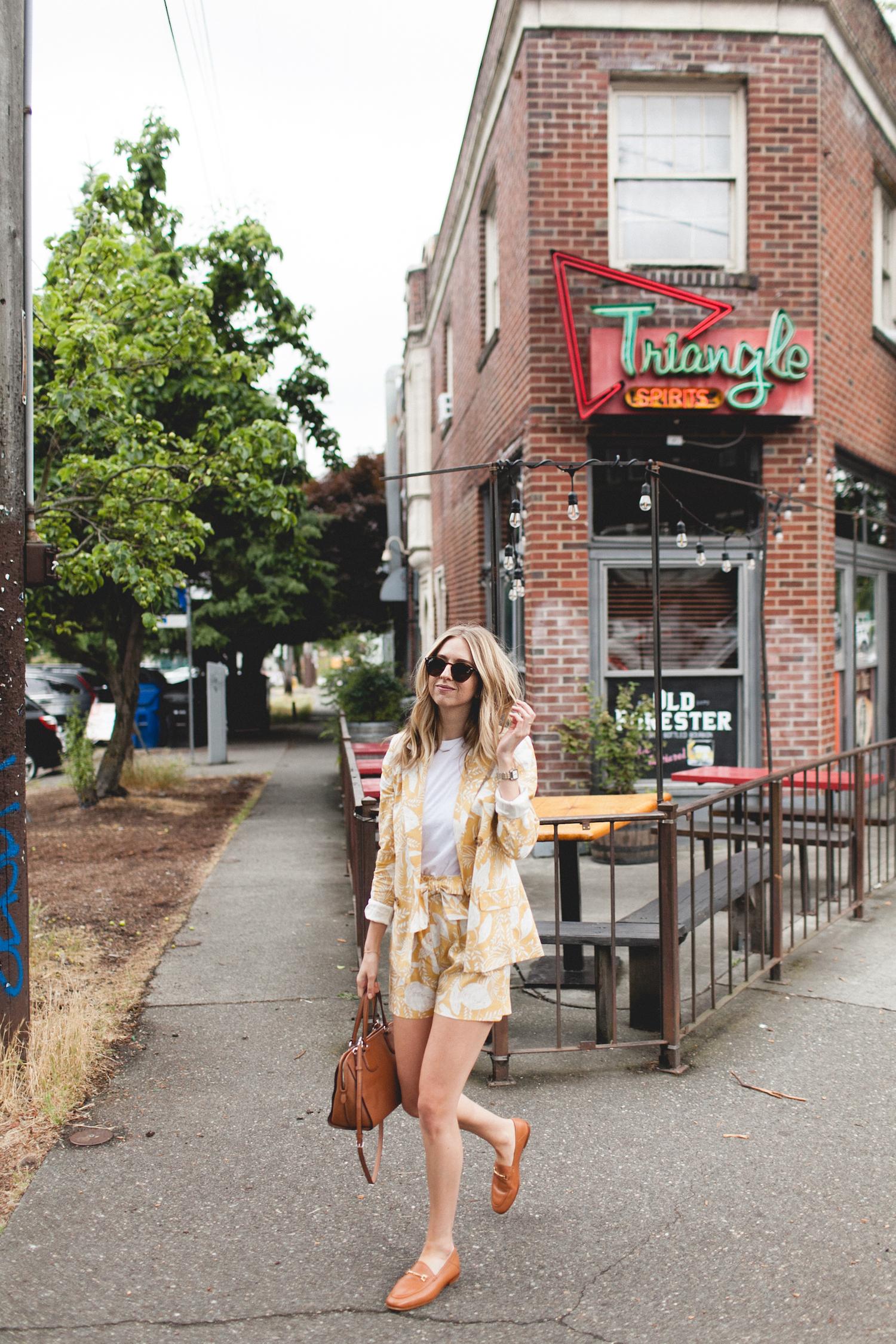 2 Ways to Wear It: Yellow Floral Blazer | truelane