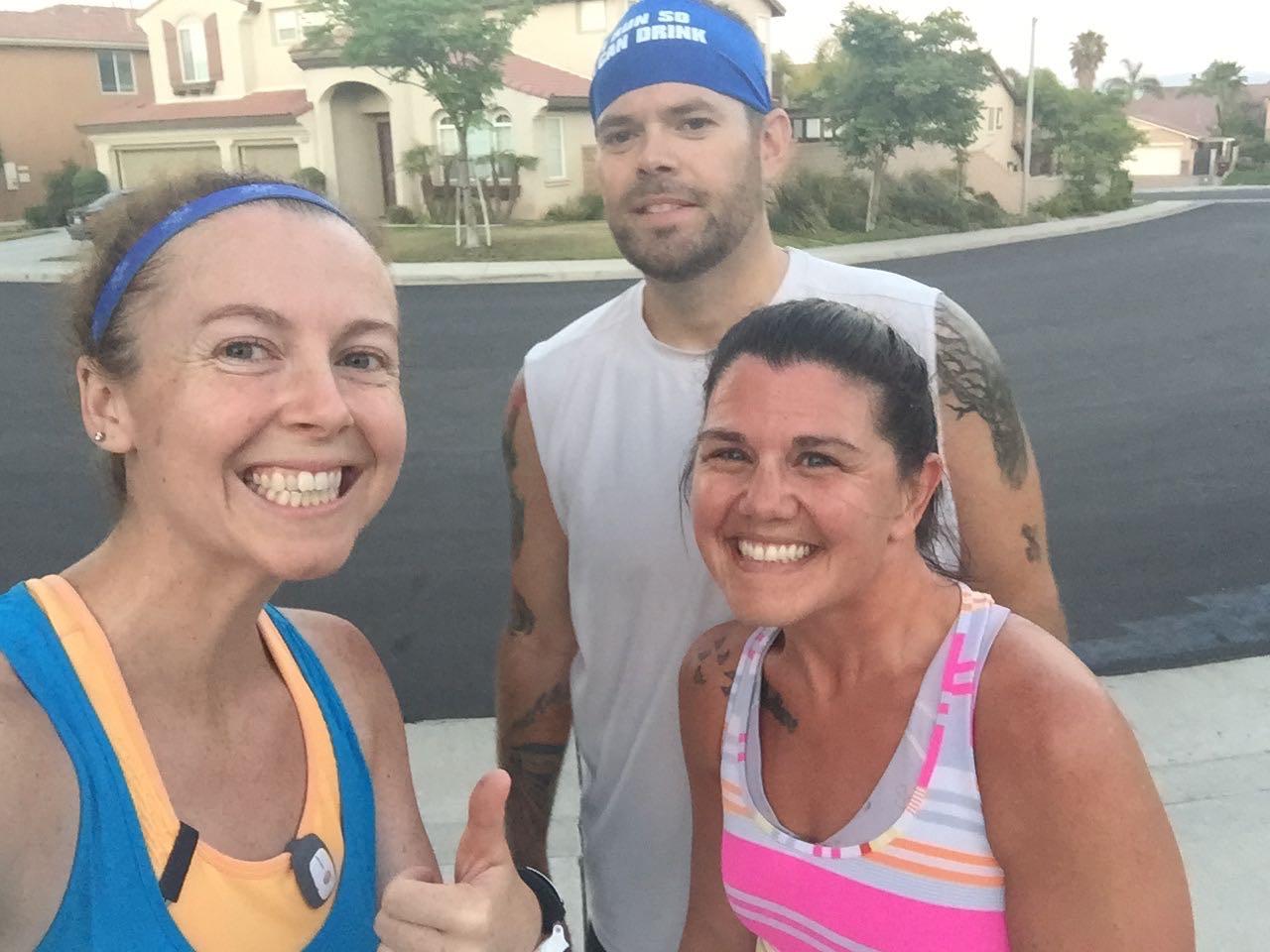 My marathon buddies: Sarah and her husband Rob