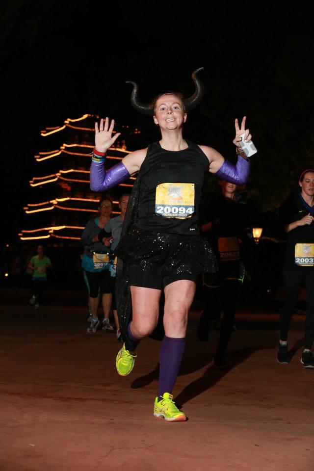 Arm sleeves & skirt during Run Disney Enchanted 10k