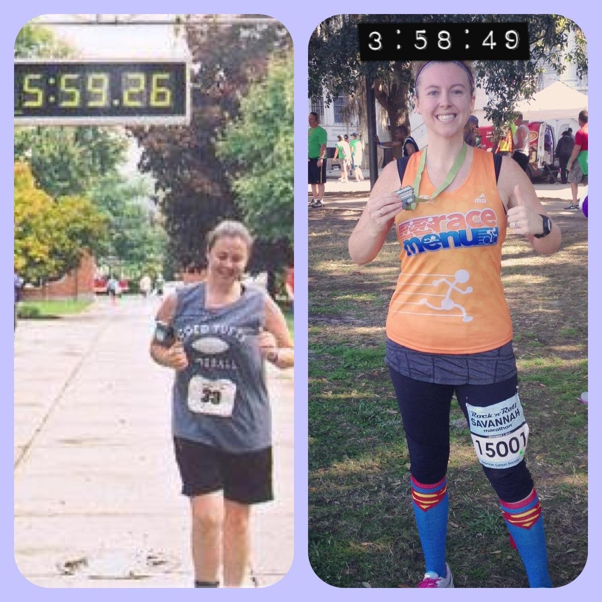 Marathon 1 (Sept 2006) vs Marathon 2 (Nov 2012)