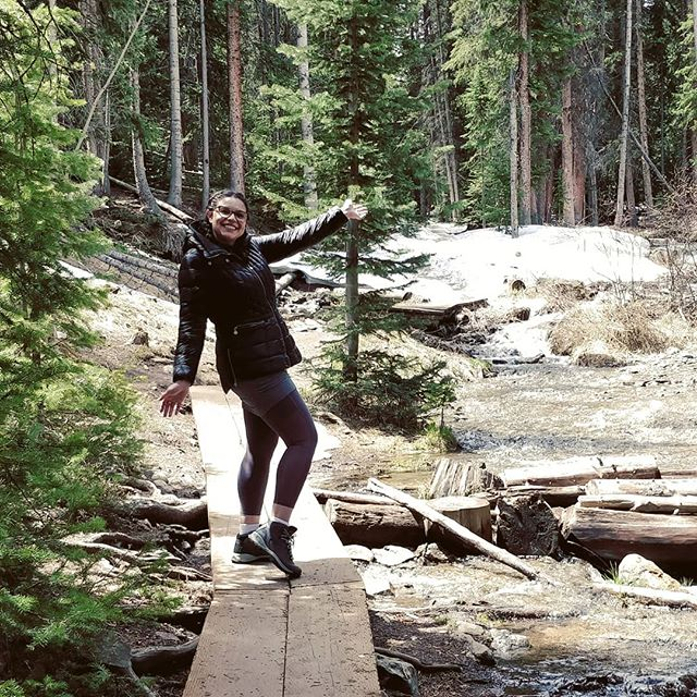 Mah wife aka @nadiainpink hiking through Breckenridge to the Sawmill Resevoir and doing her best to get into that #fitspiration life. . . . . . #fitspo #fitlife #hiking #fit #nature #travel #mountains #photooftheday #adventure #beautiful #exploresummit #breckenridge #coloradolife #mountainlife #breckdaily