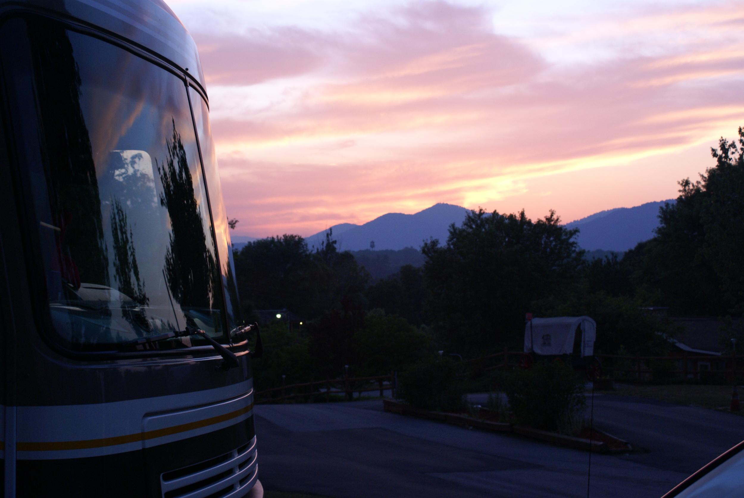Sunset over Mount Pisgah