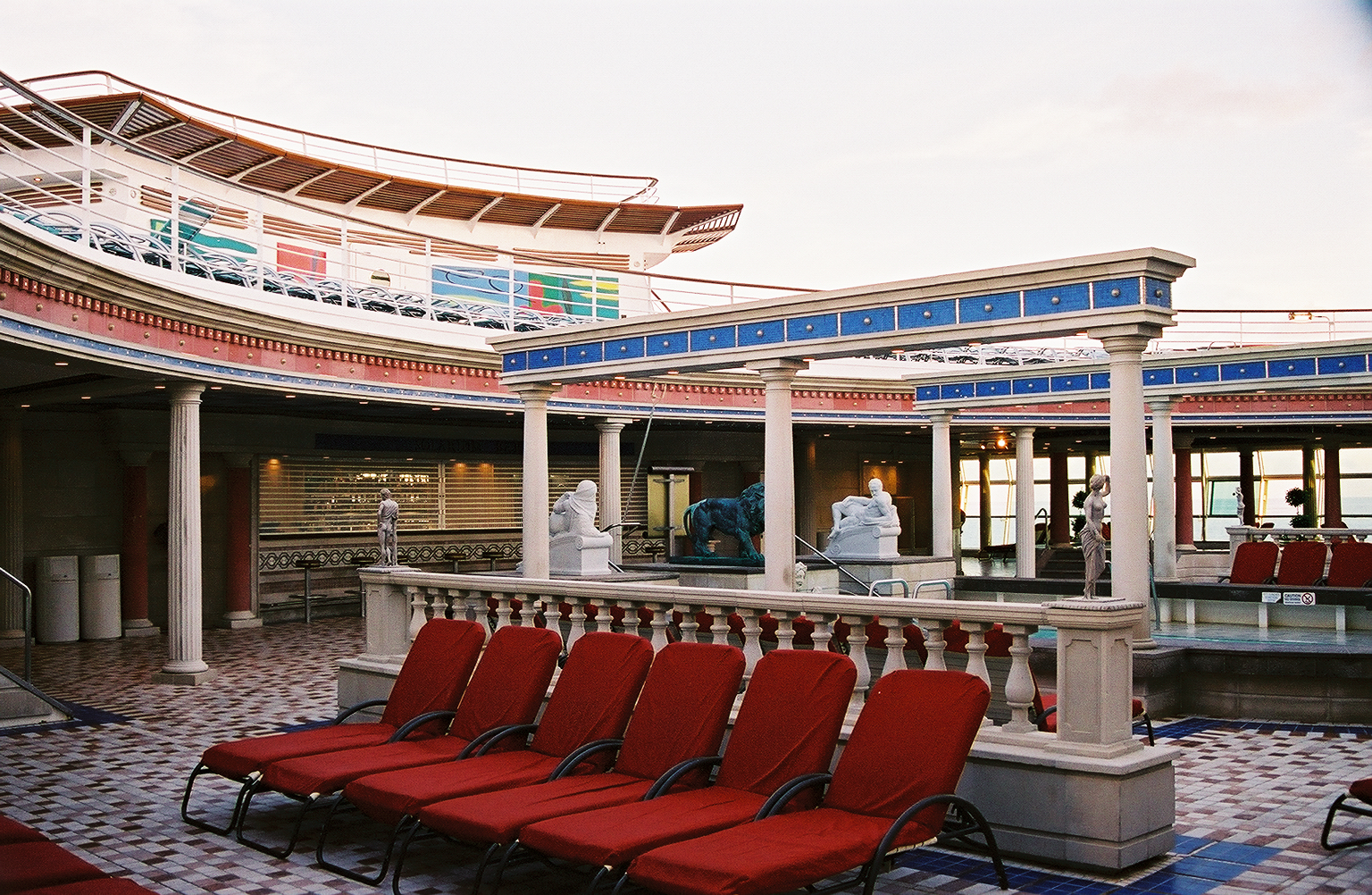 The Solarium Pool (our favorite spot on the ship)