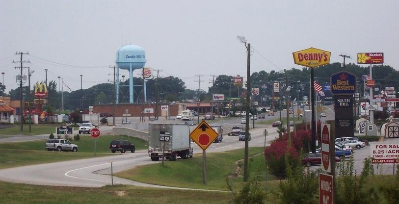 Route 58 Through South Hill, Virginia