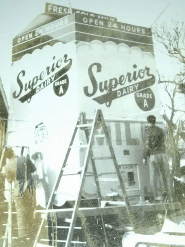 Superior Dairy Milk Vending Machine, when it was new.