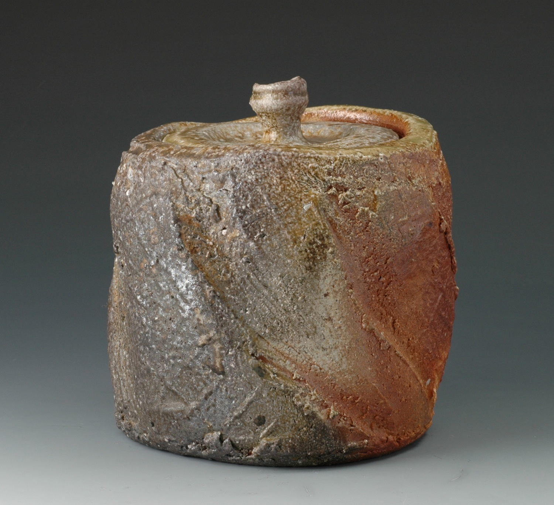Natural ash mizusashi