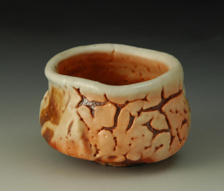 Shino glaze guinomi (sake cup)