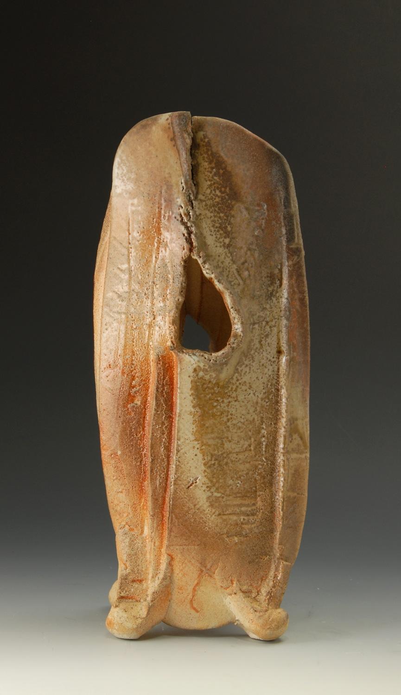 Yohen vessel, shino glaze. H: 42cm