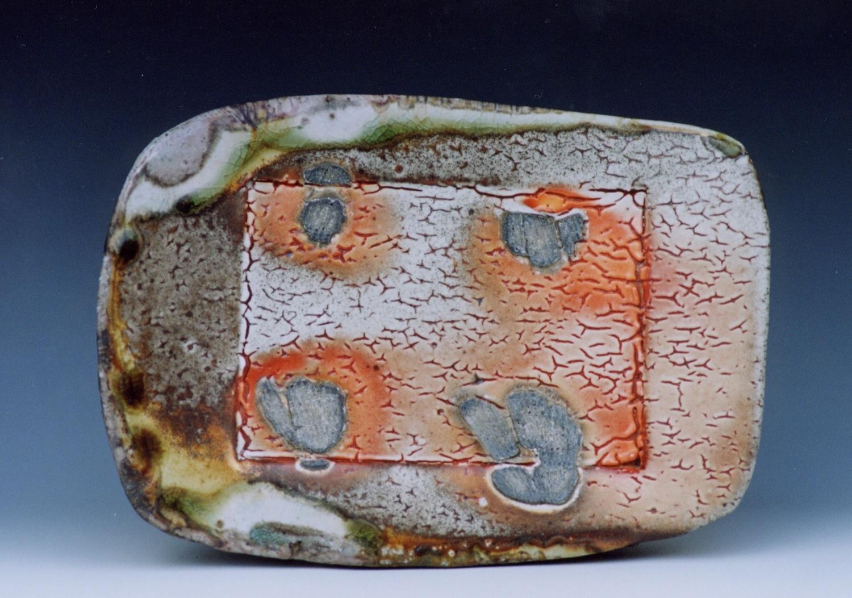Serving plate, shino glaze
