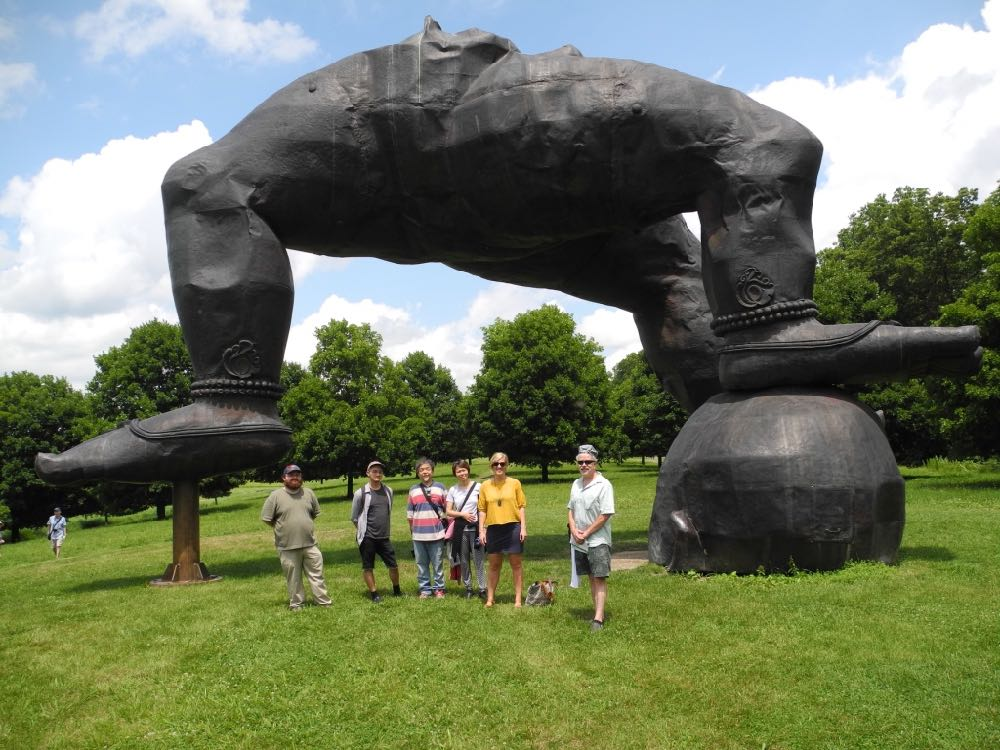 During cooling, the gang at Stormking.