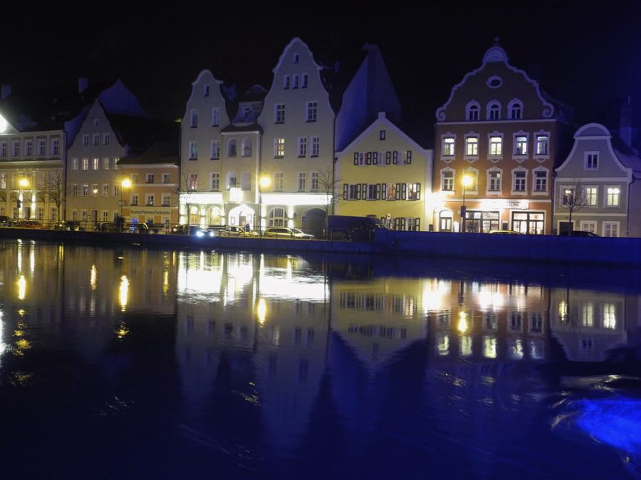 Landshut at night