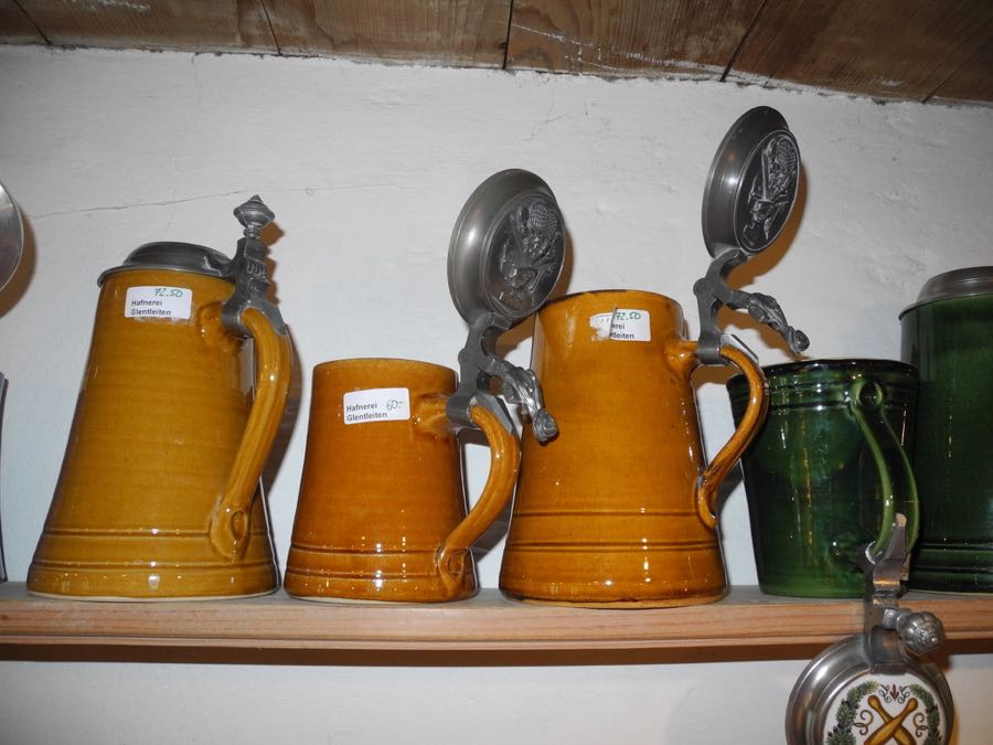 Beer steins made by Ralf Burger