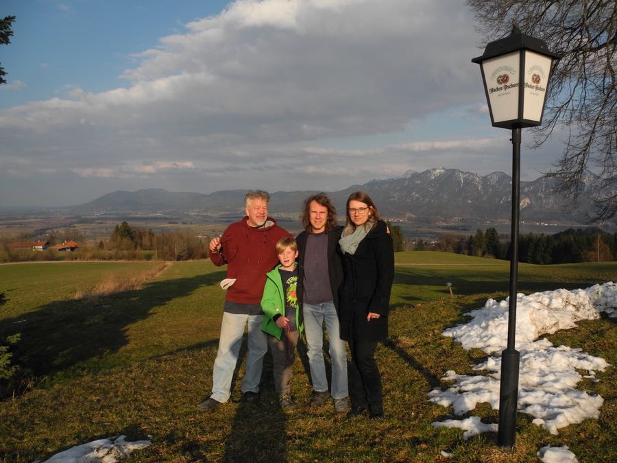 Me, Ralf, his wife Elke and Their son Jakob