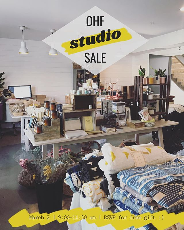 Hi friends :) sorry for the last minute notice but we're having a studio sale this Saturday, March 2!  #sale is from 9-11:30am in Brea! See link in profile for more info and to RSVP 💛 there is a TON of stuff - would love to see all your lovely faces! xo, danni