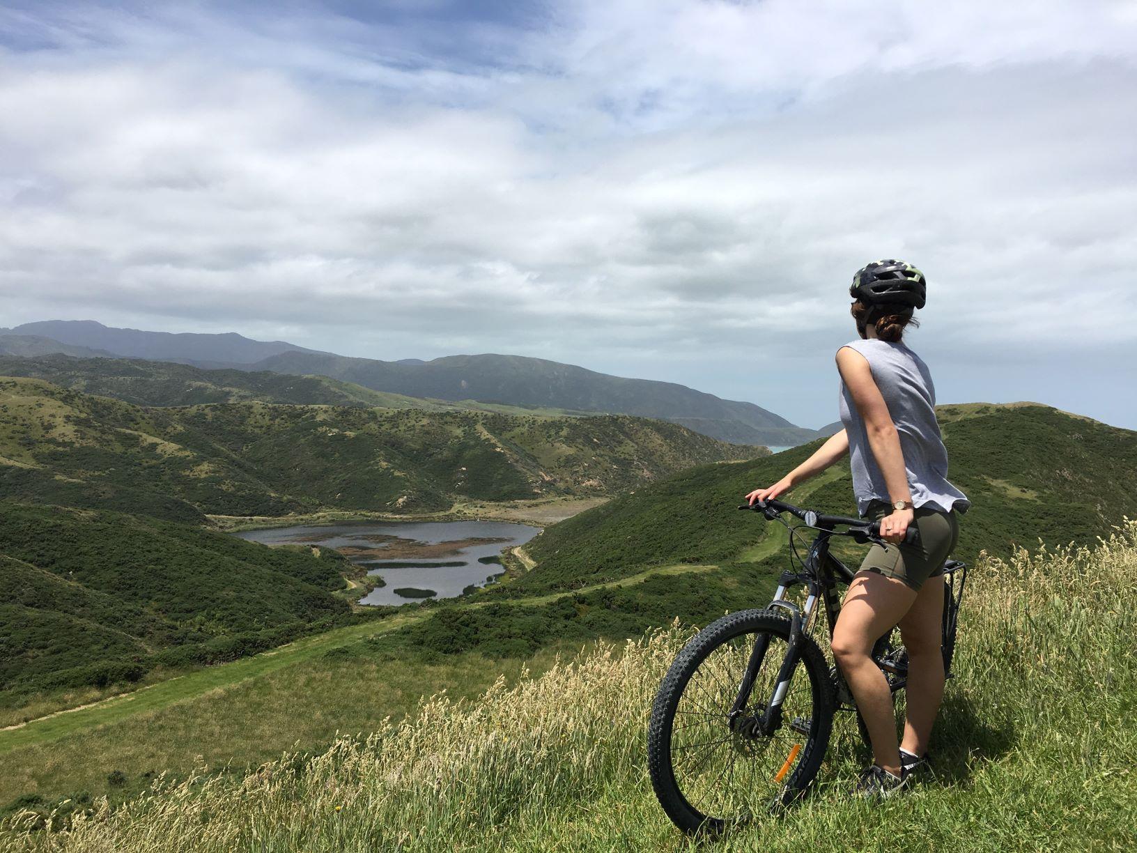 Pencarrow Lakes, from pencarrow Lighthouse, Wellington, Remutaka Cycle Trail