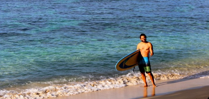 Surfing Qamea