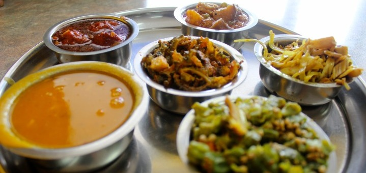 Dal, bitter melon, bhindi, jackfruit, vegetable Manchurian