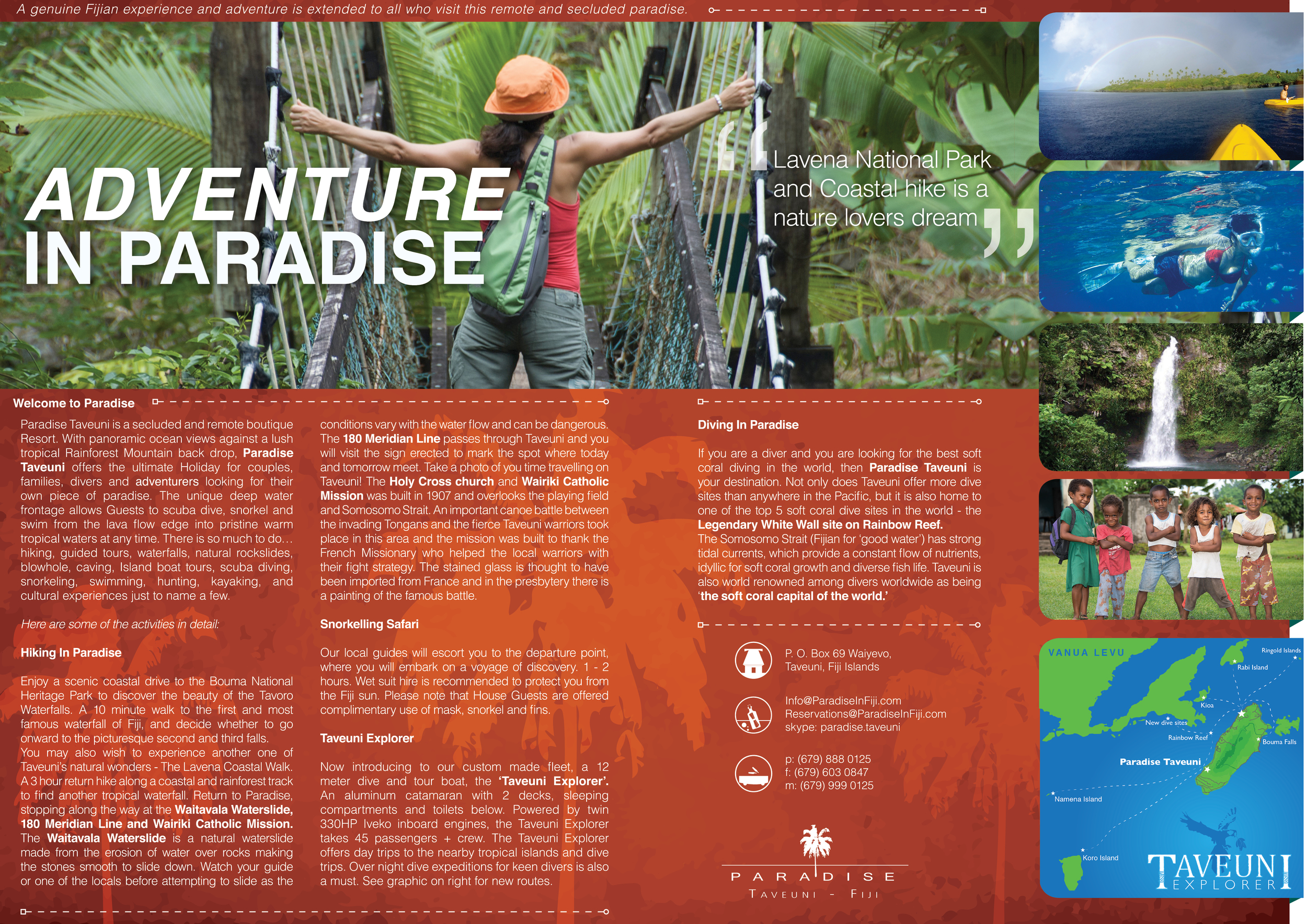 SPREAD #1 FOR ADVENTURE MAGAZINE NEW ZEALAND