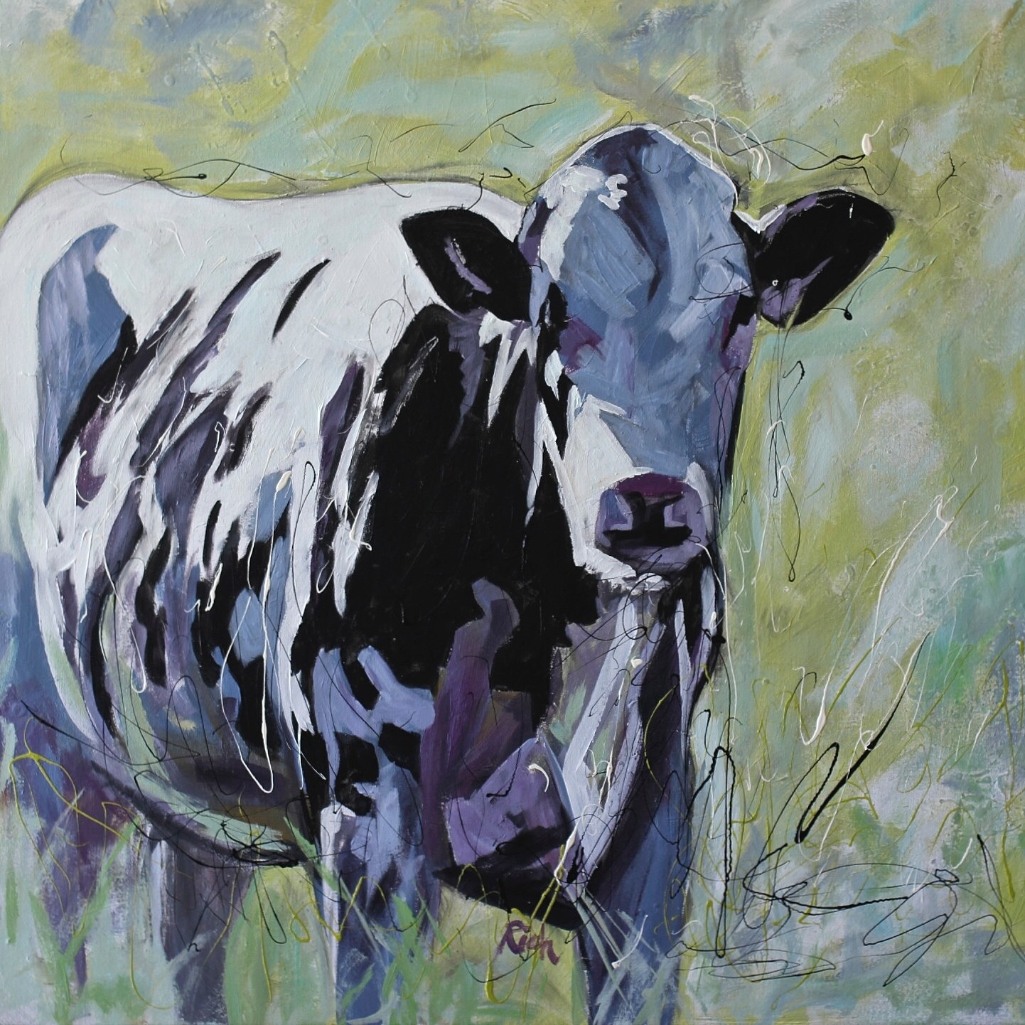 Dairy Cow  Acrylic on canvas 36x36