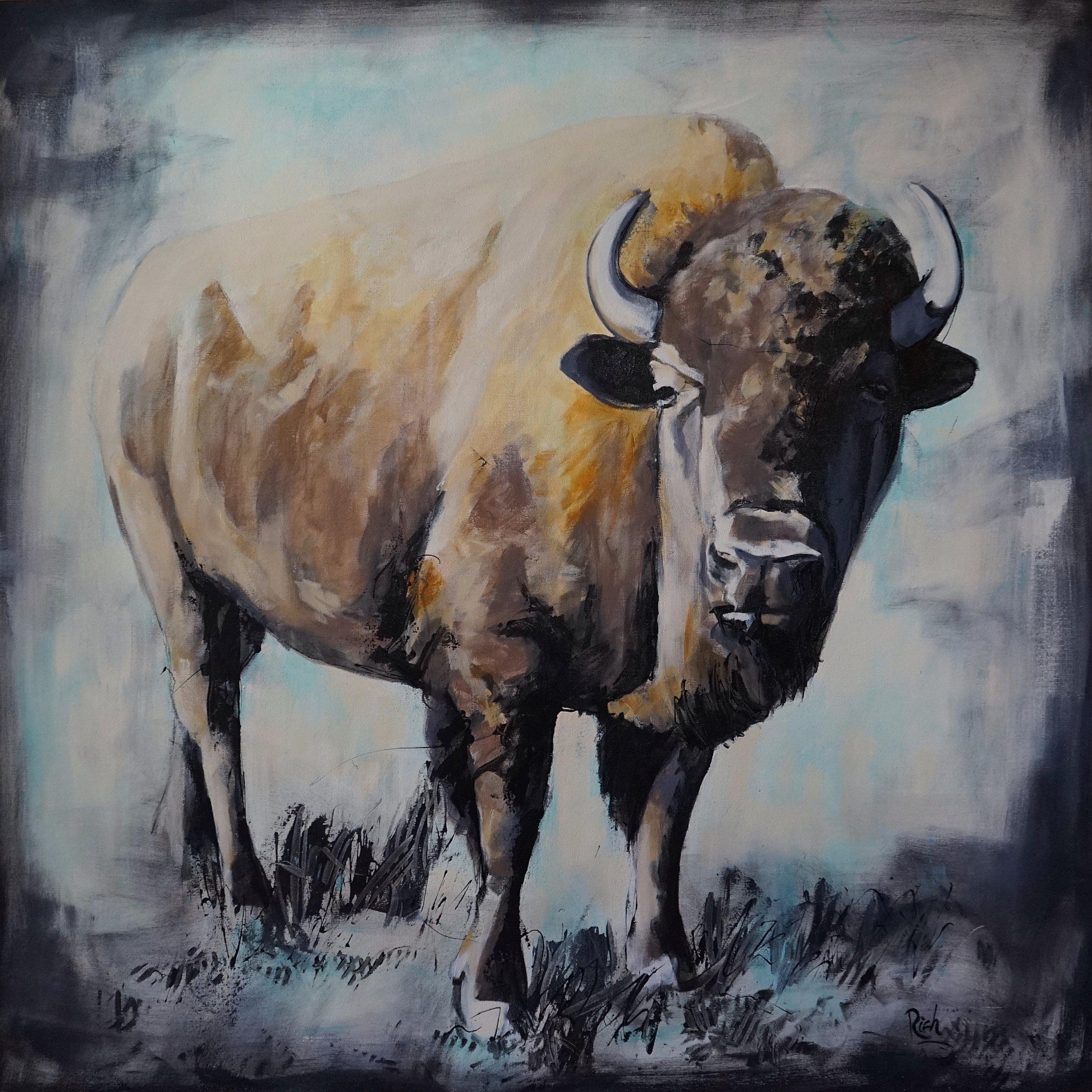 Ancient Animal  Acrylic on canvas 48x48