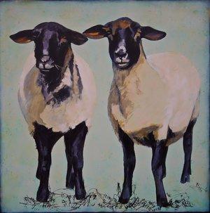 Sisters  Acrylic on canvas 36x36