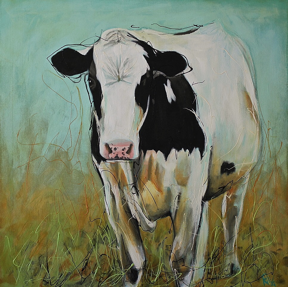 Dairy Cow 2  Acrylic on canvas 36x36