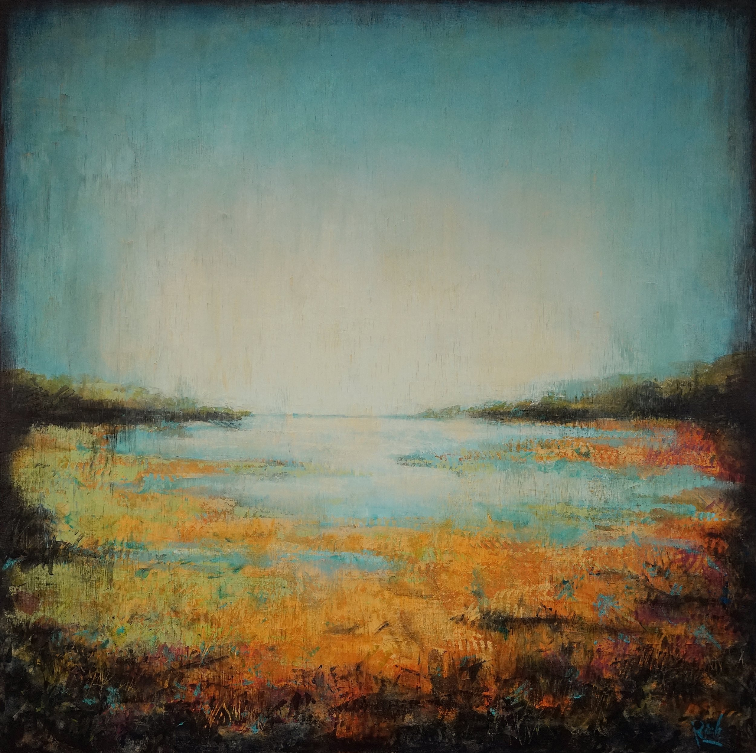 Marsh Light  Acrylic on canvas 42x42