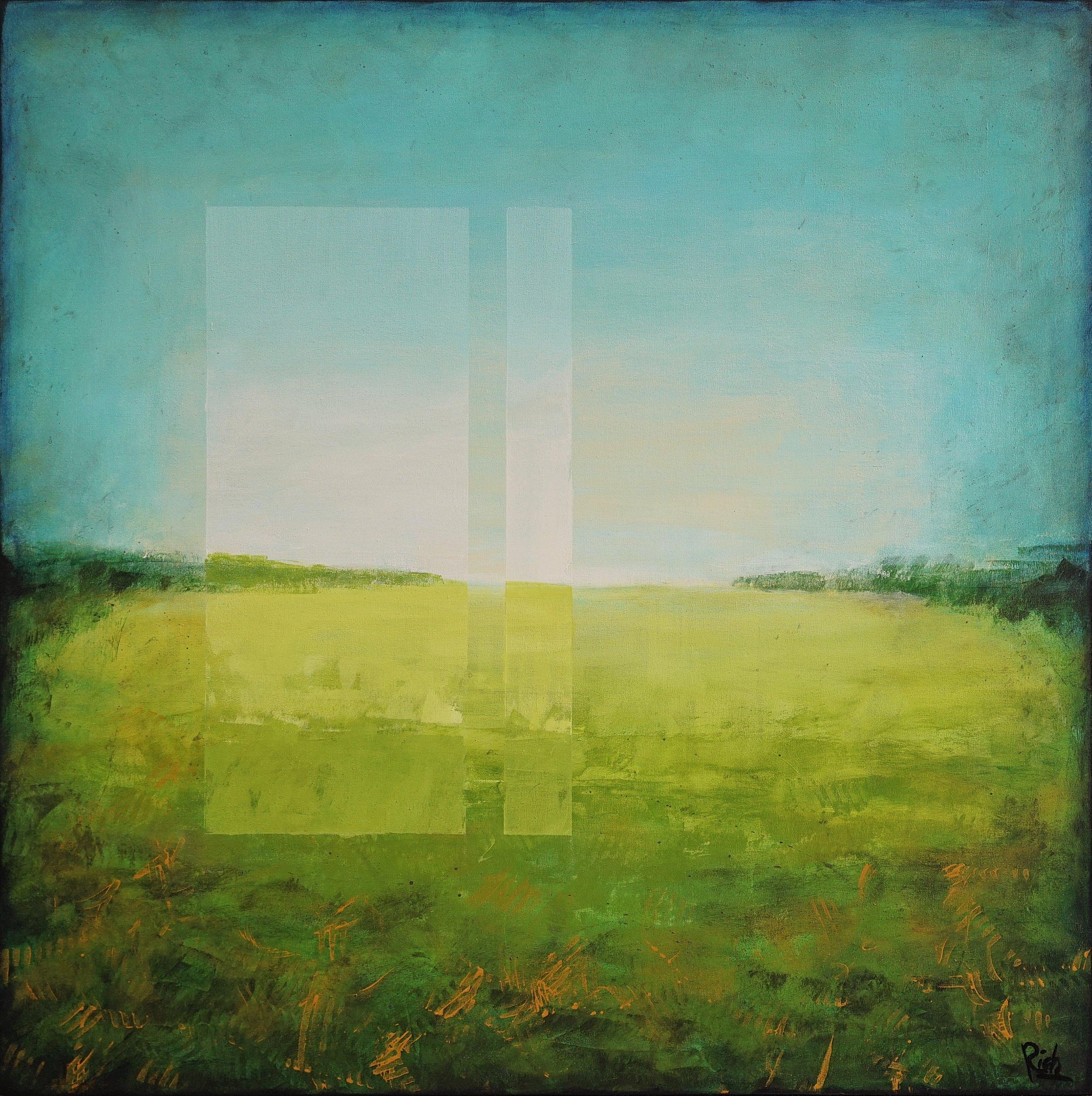 The Field  Acrylic on canvas 42x42