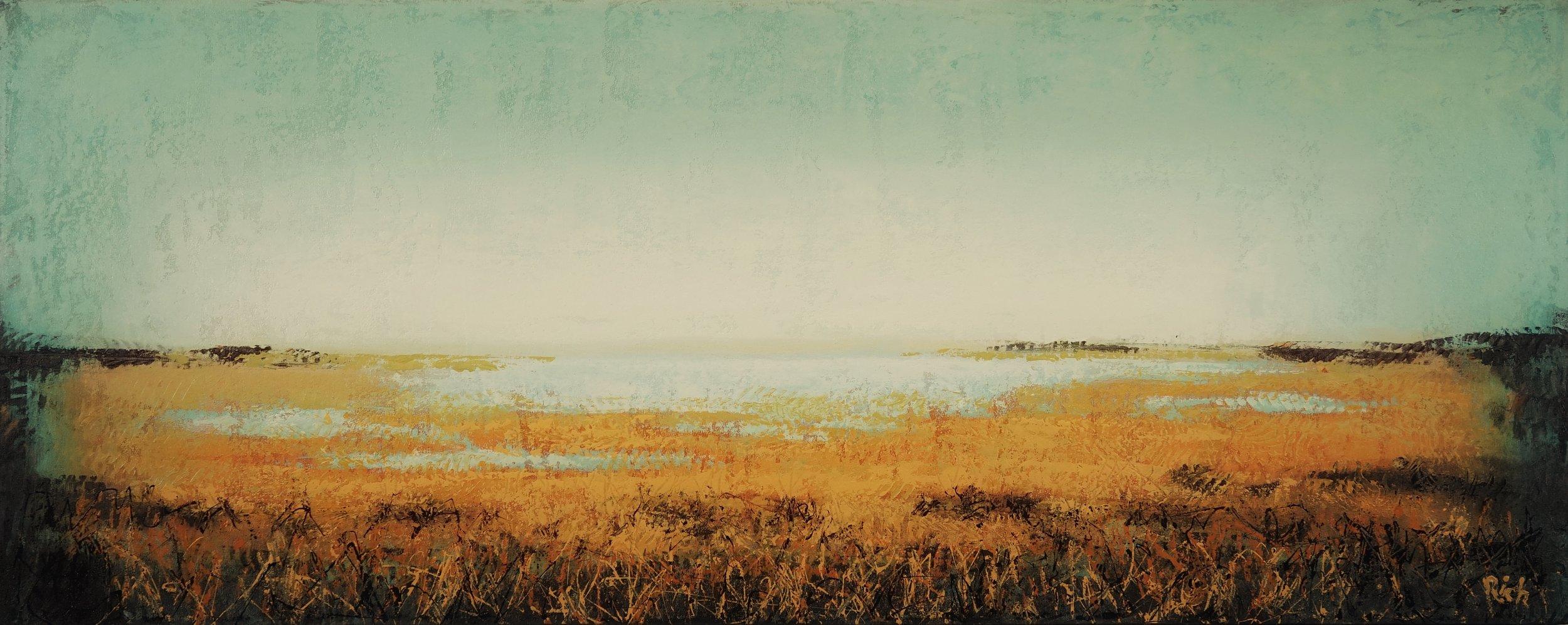Marsh Glow  Acrylic on canvas 60x24
