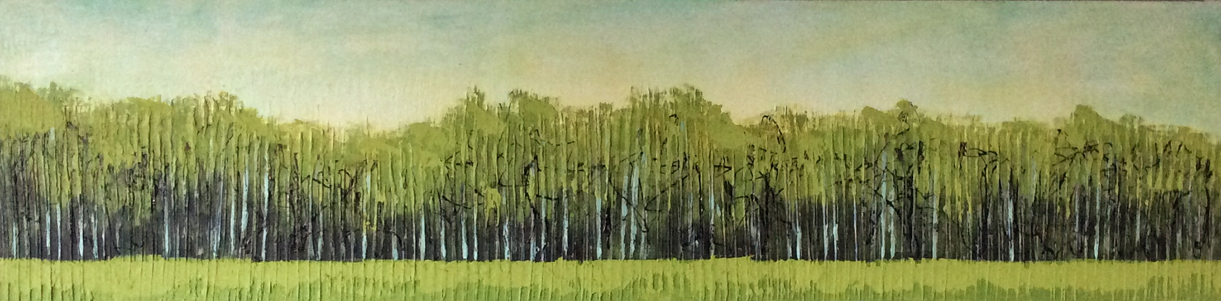 Treeline  Acrylic on canvas 48x12
