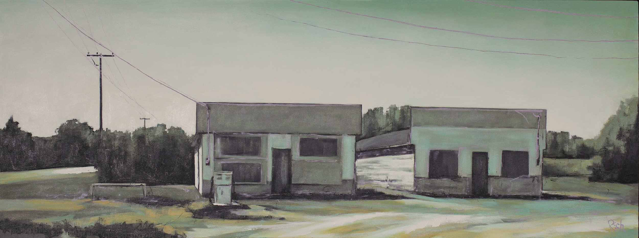 Abandoned Corner (Hnausa)  Acrylic on canvas 60x24