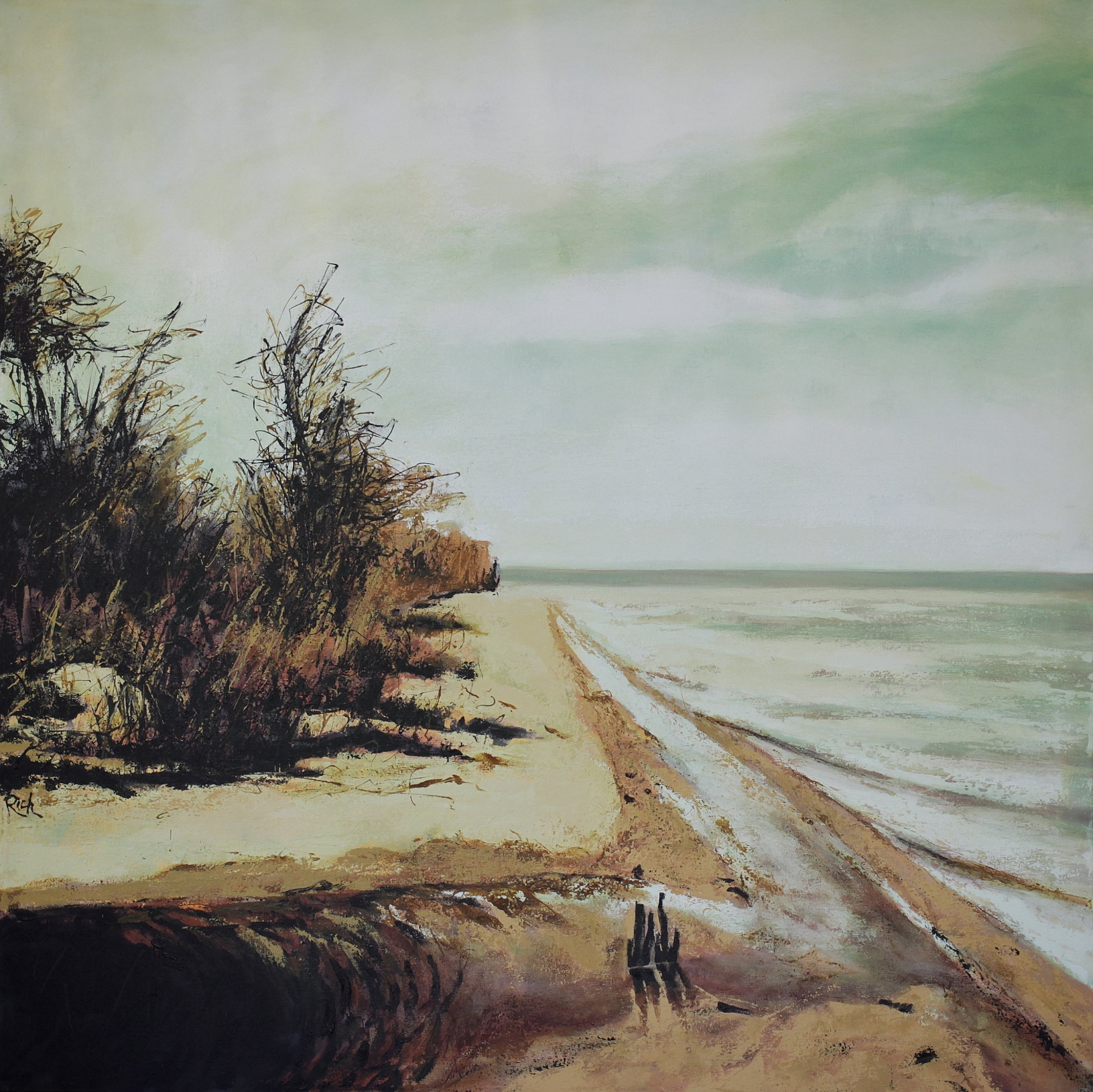 Shoreline  Acrylic on canvas 54x54