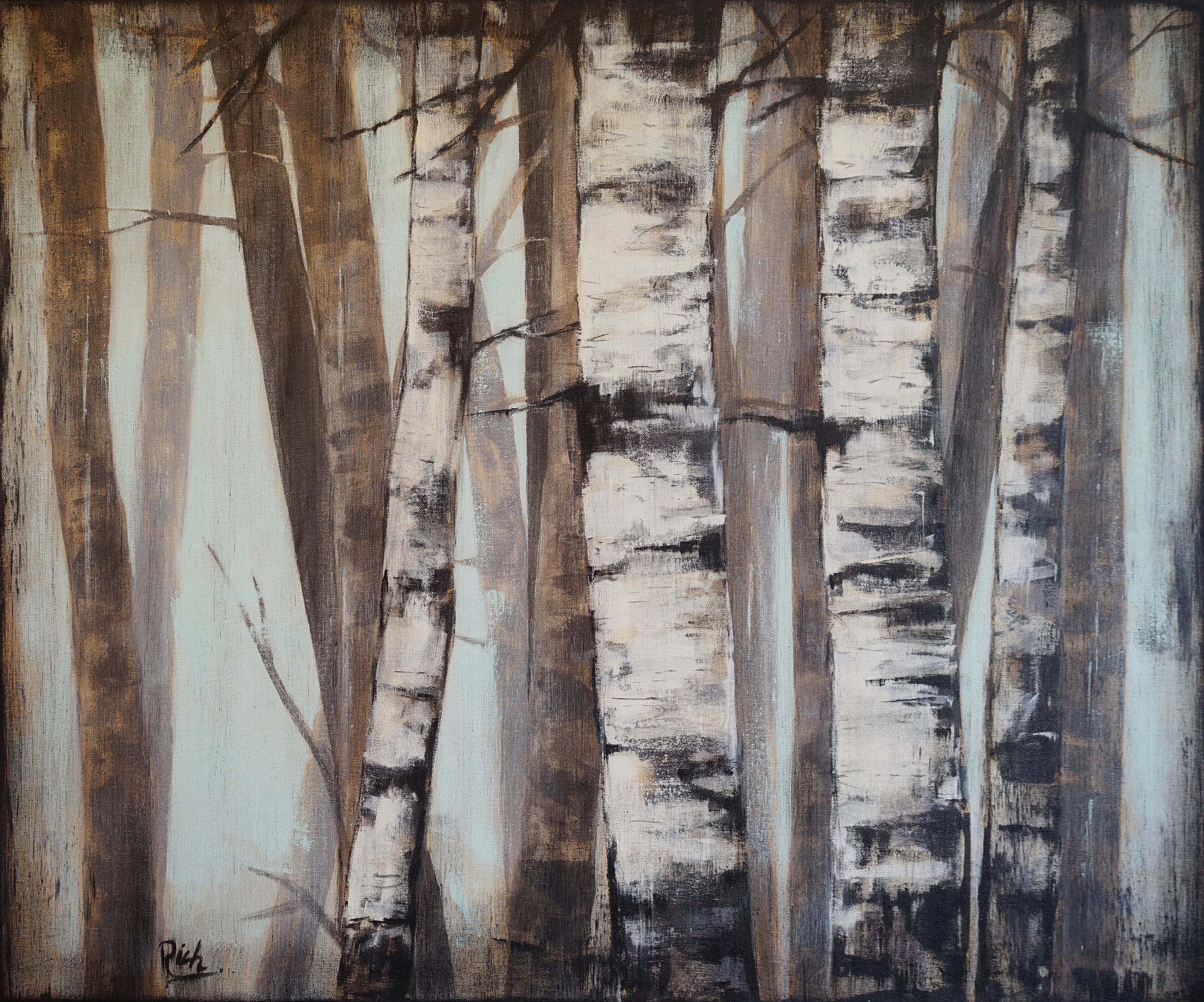 Misty Morning  Acrylic on canvas 36x34