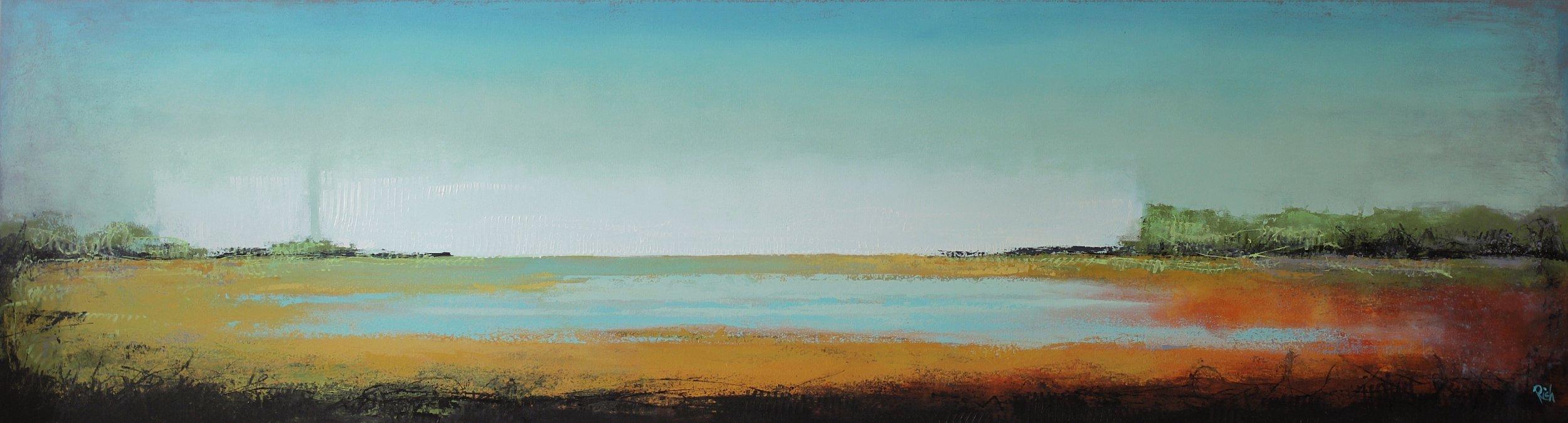 Acrylic on canvas 96x24