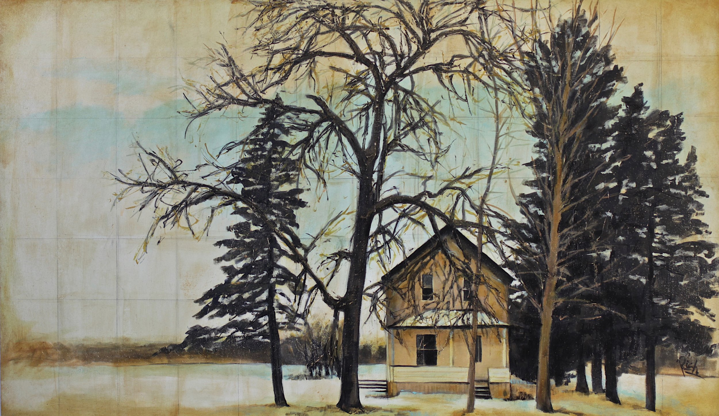 Farmhouse  Acrylic on canvas 42x24