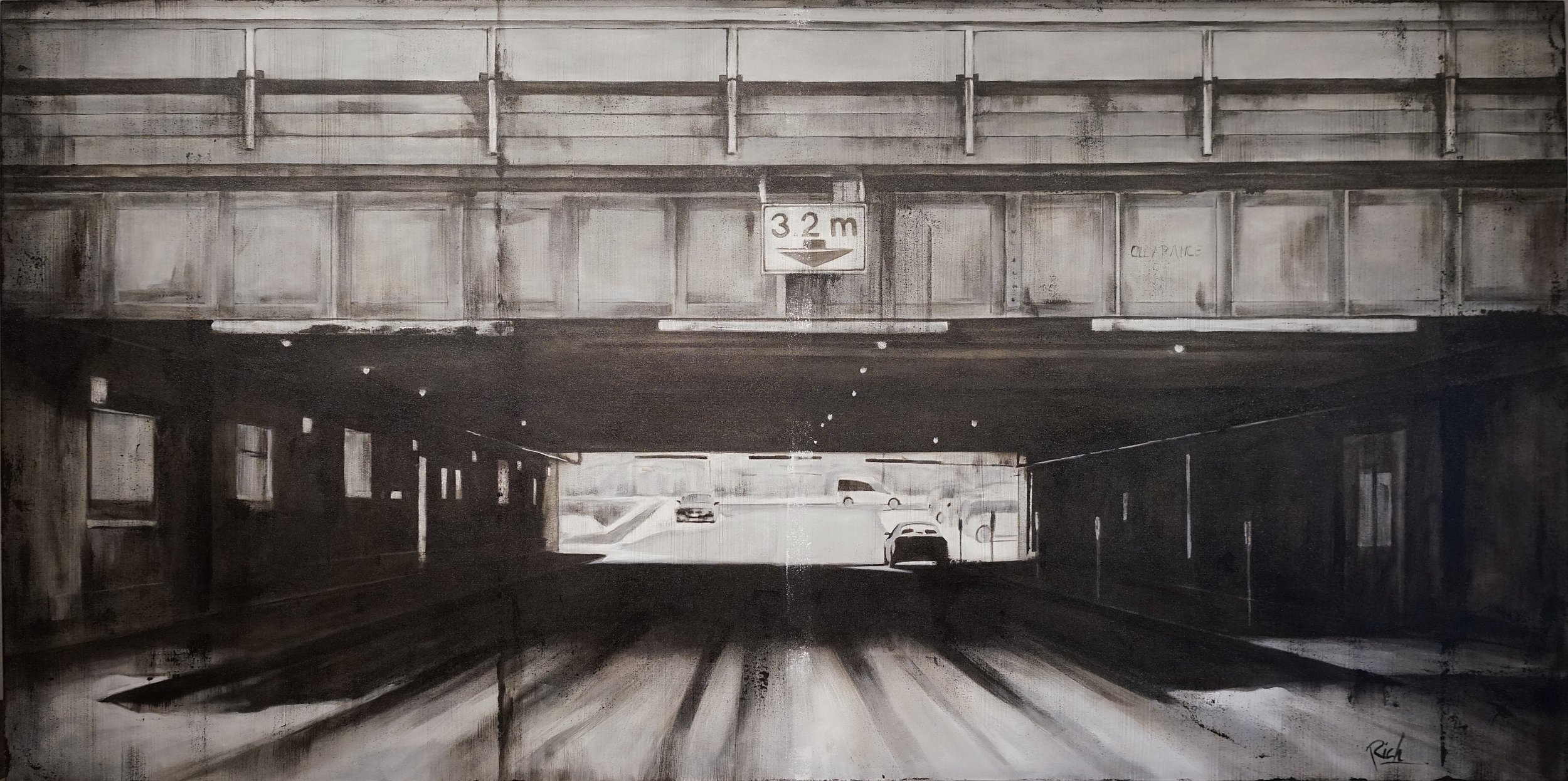Underpass  Acrylic on canvas 84x42
