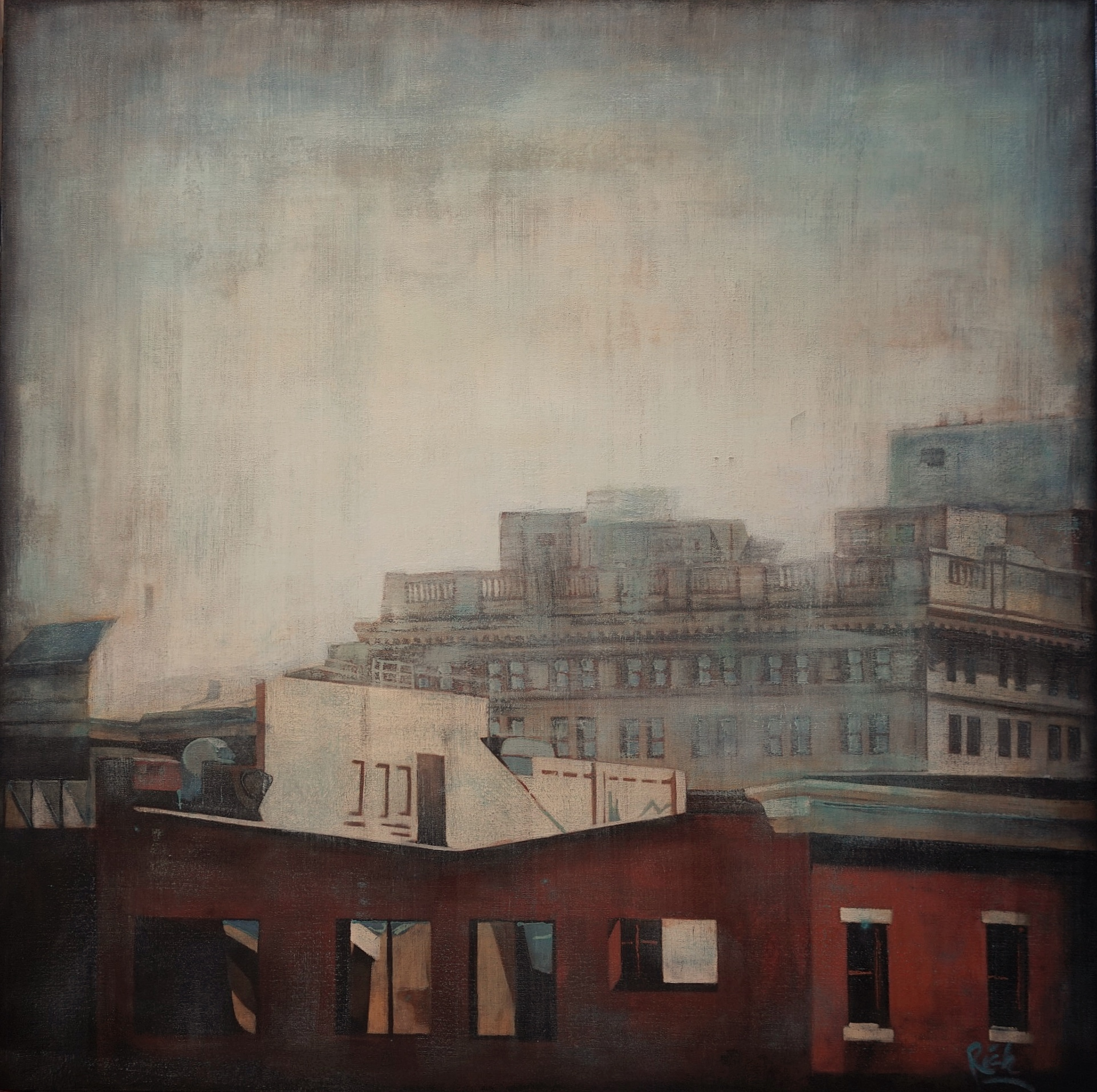 Rooftops  Acrylic on canvas 42x42
