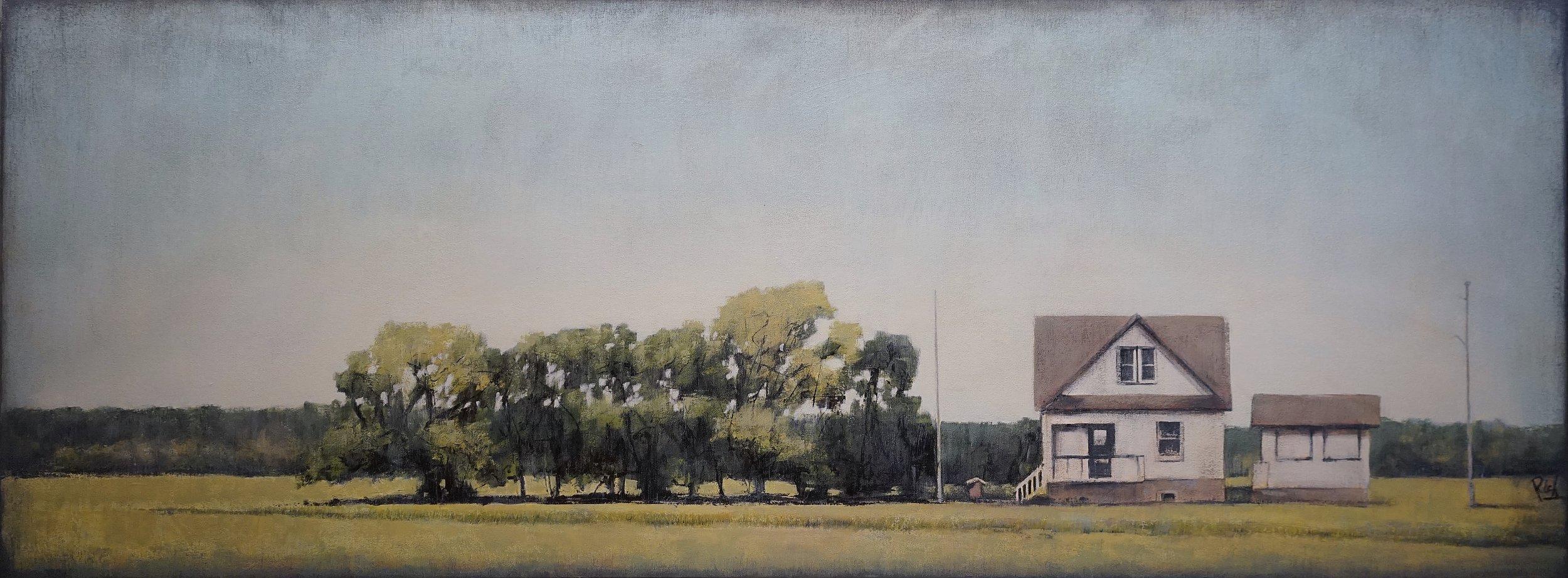Prairie Farm  Acrylic on canvas 64x24