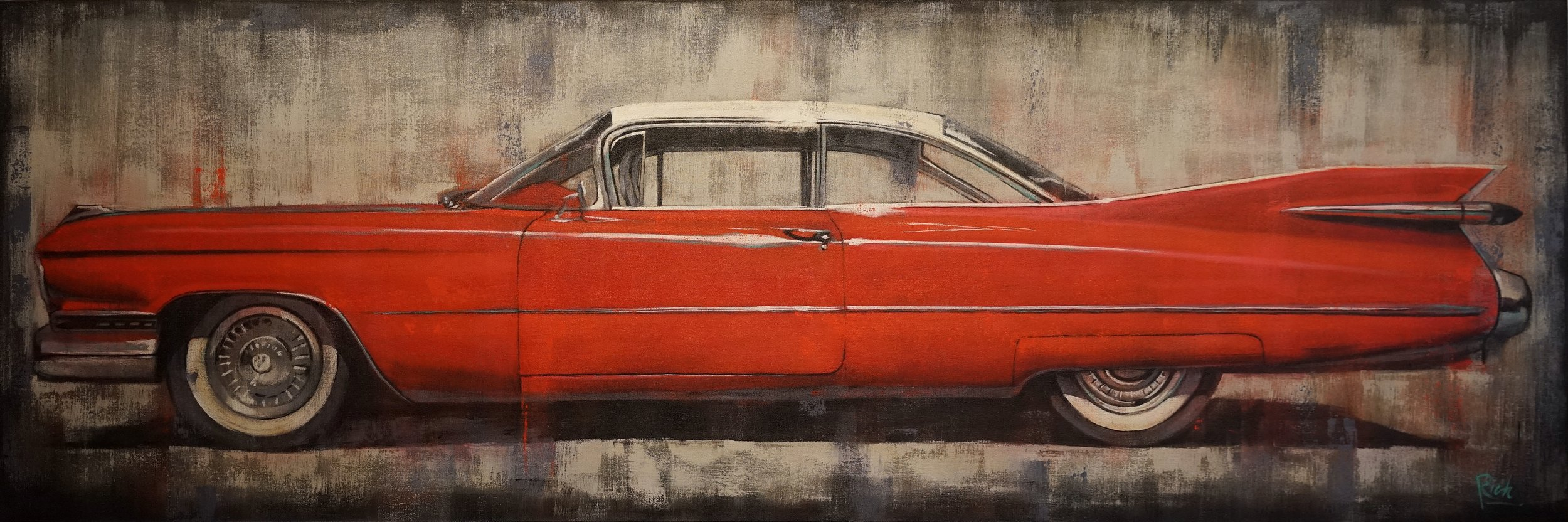 59 Eldorado  Acrylic on canvas 72x24