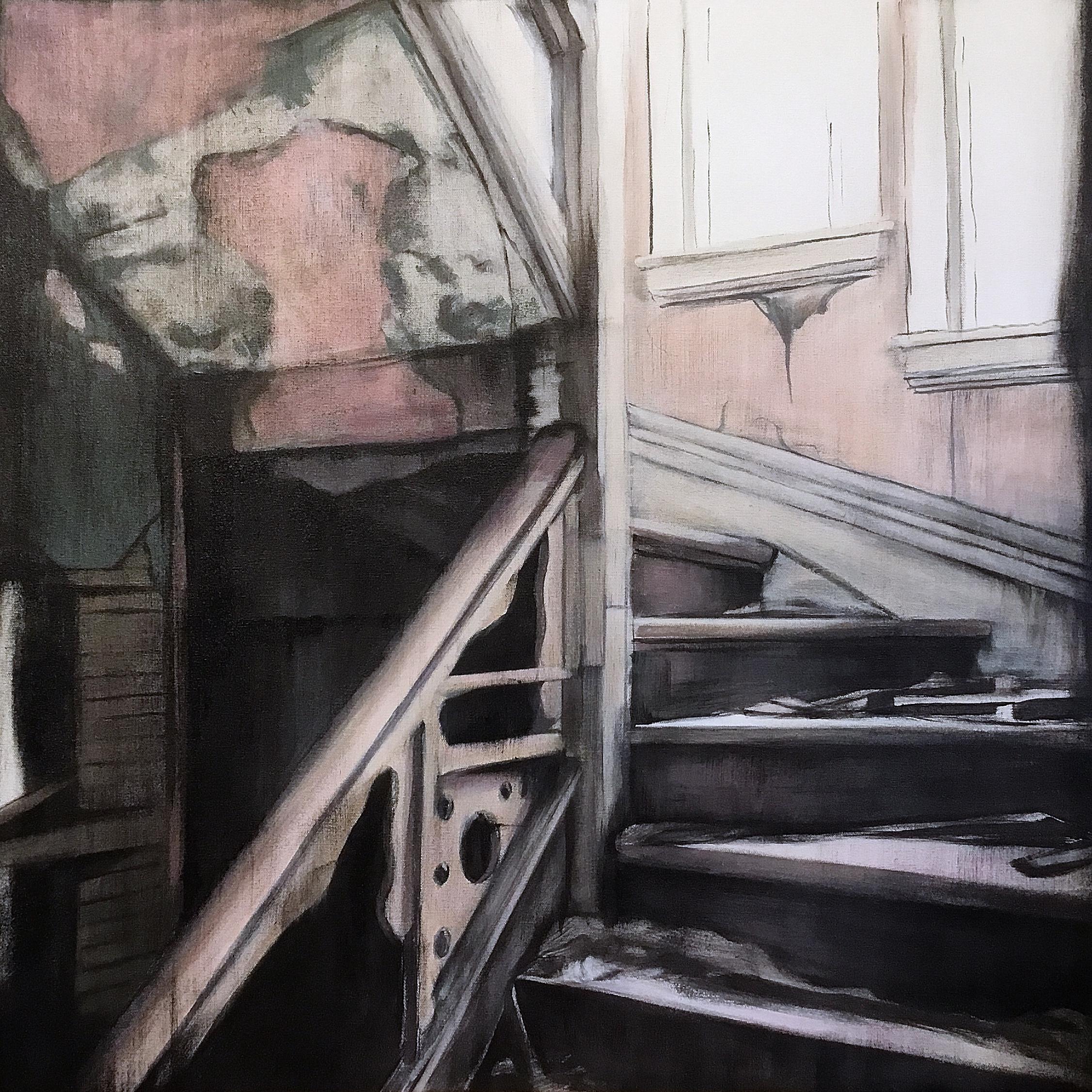 Derelect   Acrylic on canvas  30x30